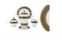 Чайный сервиз Чёрное золото 23 предмета на 6 персон