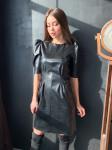 Платье черное из эко кожи 554 от K&ML
