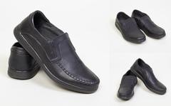 """Обувь мужская 700123-157-40 Полуботинки """"Кожа"""" Черные"""