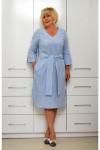 Платье лен в полоску 1646-3