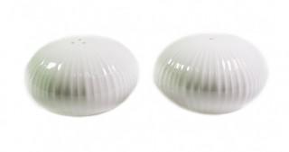 9385  Солонка и перечница ELEGANCE WHITE 8 см (фарфор