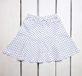 Трикотажная юбка-восьмиклинка