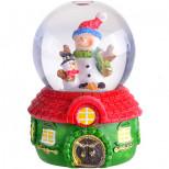 "Водный шар маленький ""Дед Мороз"" 7см (х144)"