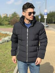 Мужская куртка Е82534-3 темно-синяя