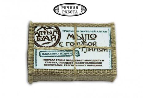 Мыло натуральное «С голубой глиной»