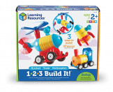 Learning Resources 1-2-3 Build It! Rocket, Train, Helicopter