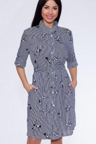 22555 Платье Синий/полоска