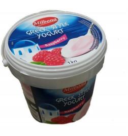 Йогурт Milbona Greek Style (10%, малина) 1 кг