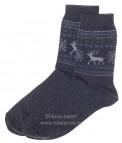Н434/4 Мужские носки (т.серый/ голубой)