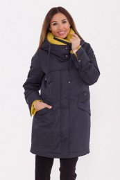 Пальто Темно-синий/желтый
