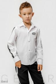 Черно-белая детская рубашка