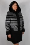 Пальто утепленное Ворса с кашемиром/Полоса