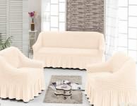 Набор для мягкой мебели кремовый