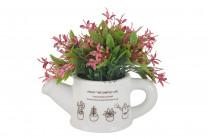 Декоративные цветы Букетик розовый в лейке без инд.упаковки