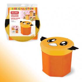 Короб-пуфик для хранения 30*30*30см оранжевый