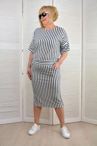 Комплект в полоску: блузон и юбка 1777