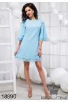 Стильное перфорированное платье - 18890