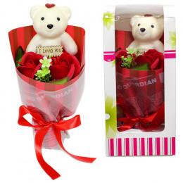 """Подарочный сувенир """"Мишка с розами"""""""