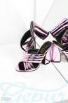 Туфли мюли металлик
