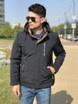 Мужская куртка Е82536-3 темно-синяя