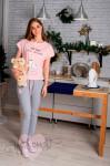 Женская пижама ЖП 010/5 (розовый+серый)