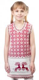 9203 Платье для дев. (бело-бежевый)