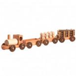 Малый паровозный состав с вагонами, ТМ Леснушки (машинка)