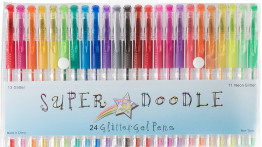 Super Doodle - Glitter Gel Pens - 24 Glitter Colors