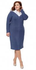 Синее трикотажное платье 19316