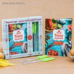 Кулинарная книга, силиконовая лопатка и кисточка
