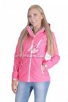Ветровка - виндстоппер женская розового цвета 1638R-1
