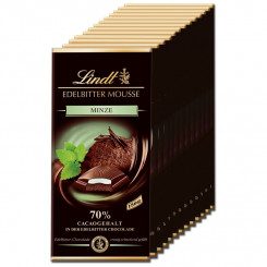 Lindt Edelbitter Mousse Minze, Schokolade, 150g 13 Tafeln
