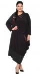 Платье с сорочкой Черный