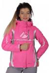 Куртка женская осень весна розового цвета 1717R-1