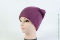 Женская шапка H9509-1A (ангора) Фиолетовая