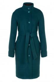 Пальто женское демисезонное (пояс) Кашемир Малахит