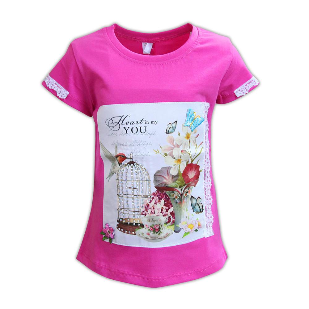 Трикотажная футболка для девочки