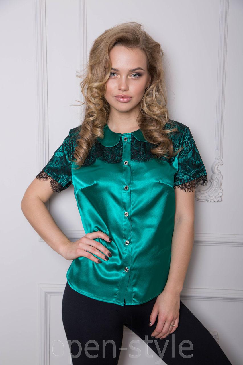 Атласная блузка своими руками