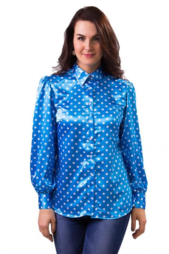 Рубашки женские атласные