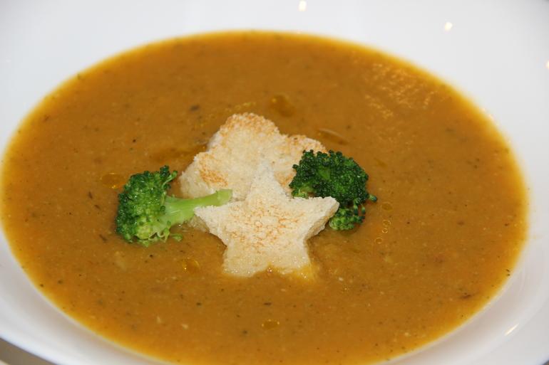 Суп-пюре  с  тыквой  и  брокколи!