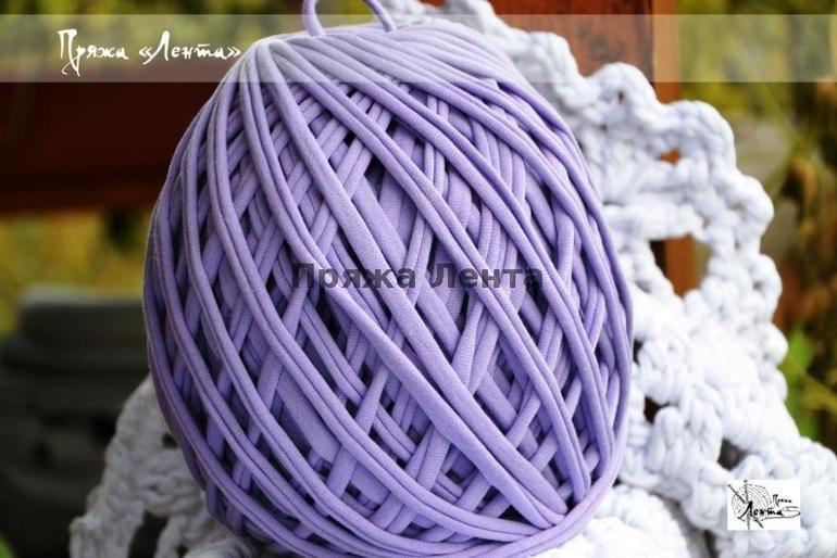 Вязание нитками лентами 82