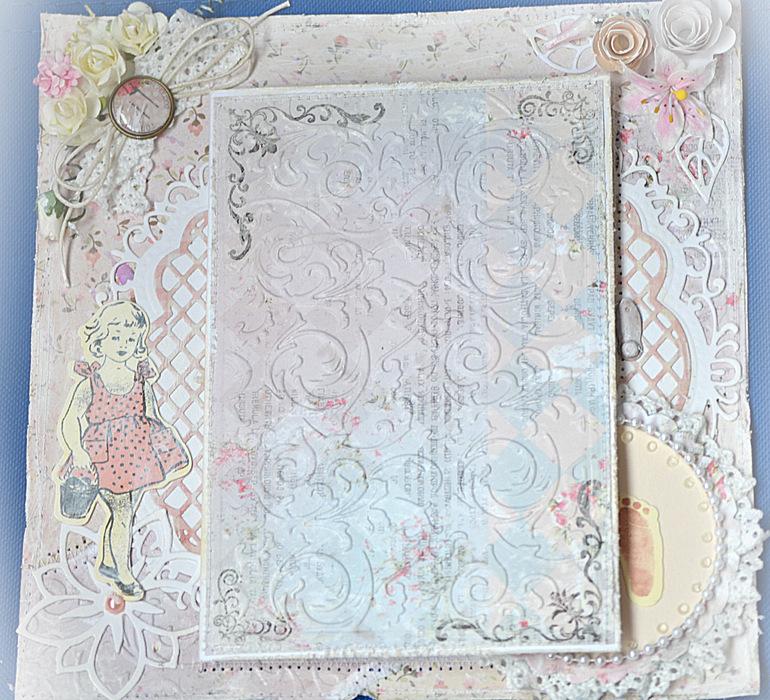 Альбом для девочки в стиле Шебби. Второй разворот