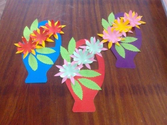 Цветы из бумаги для детского сада своими руками