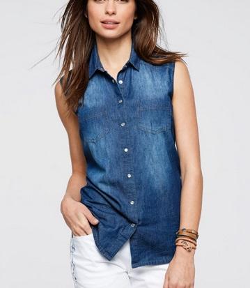 рубашка жилет джинсовая 48-50 Мск