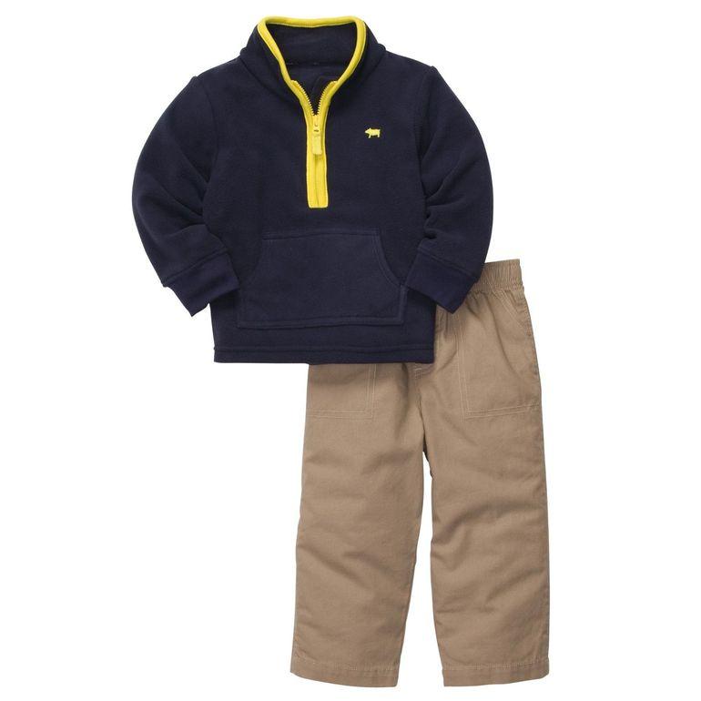 Carters комплект флисовый пуловер+брюки «Королевский синий»