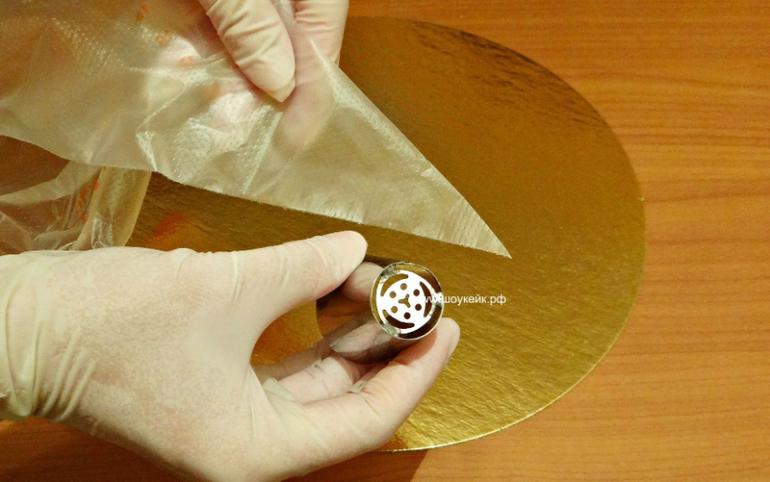 Как с крема сделать тюльпан из