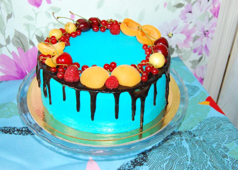 Как сделать цветную глазурь для торта с подтеками рецепт пошагово