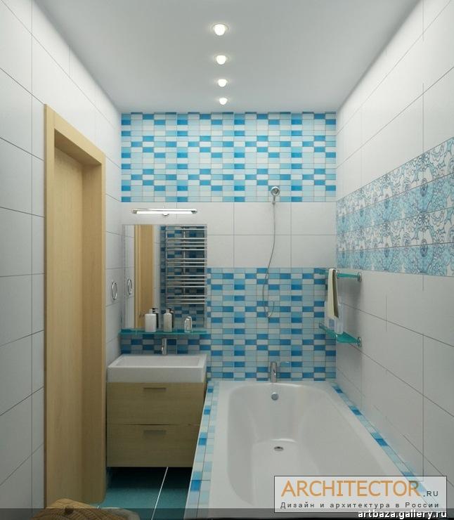 Дизайн ванной комнаты обычной