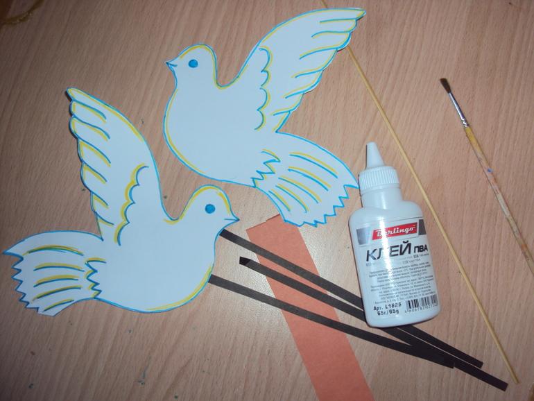 Как сделать голубя поделку