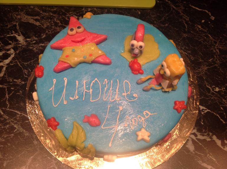 Первый торт, никогда раньше не пекла)))